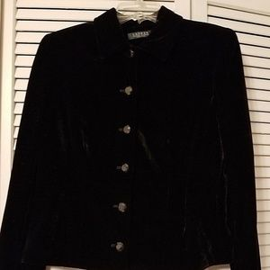 Ralph Lauren Black Velvet Jacket 14P New